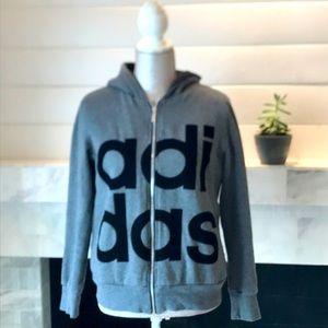 Adidas Original Full Zip Hoodie L Preloved